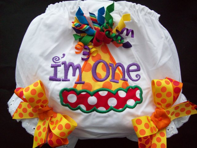 Rainbow HOOTs Birthday Hat Bloomers