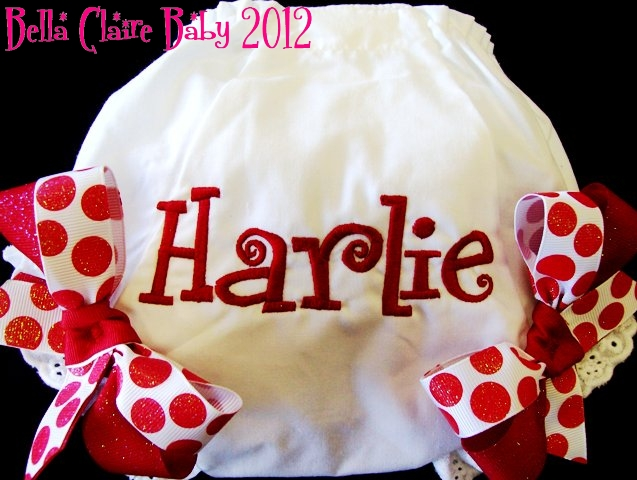 Red Sparkles Personalized Bloomers
