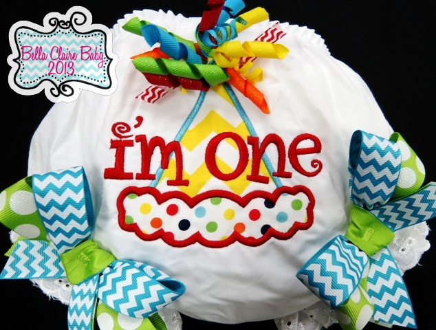 Chevron Rainbow Party Hat Bloomers