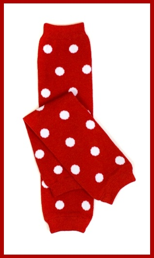 Red and White Polka Dot Leg Warmers