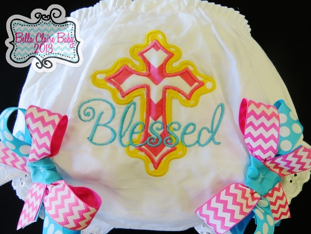 Spring Fling Chevron Cross Bloomers