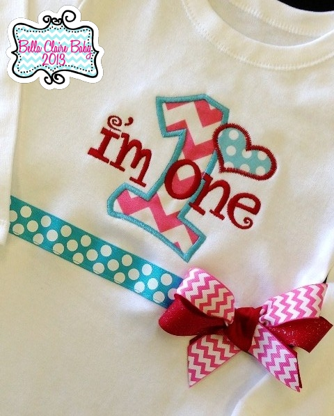 Chevron Heart Initial Top- Pink
