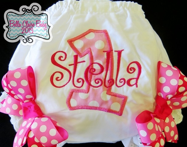 Pink Splash Initial Bloomers