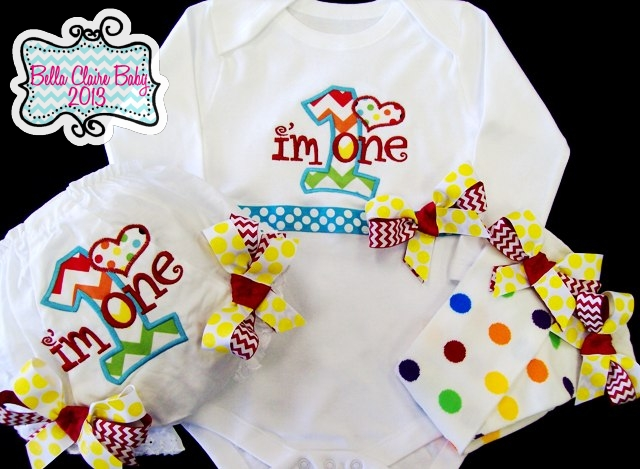 Rainbow Chevron Initial Sparkles Set