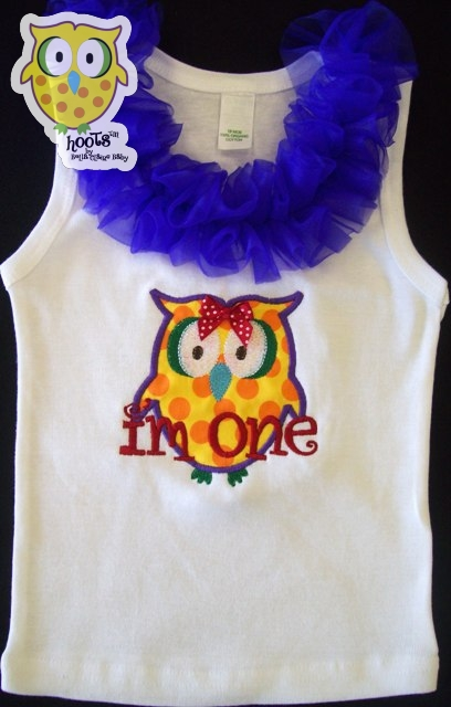 Rainbow HOOTs Ruffle Top