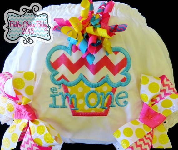 Spring Fling Chevron Cupcake Bloomers