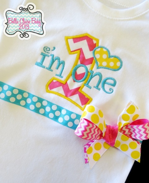 Spring Fling Chevron Heart Initial Top