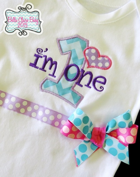 Sweet Spring Bliss Chevron Heart Initial Top